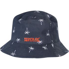 Regatta Crow Hat Kids navy palm print